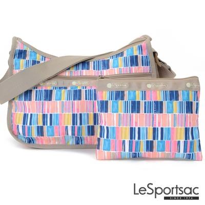 LeSportsac - Standard 側背水餃包/流浪包-附化妝包 (彩繪磁磚)