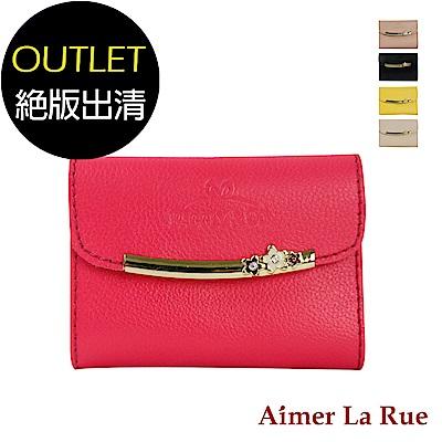 Aimer La Rue 名片夾 氣質高雅牛皮花朵系列(共五色)(絕版出清)