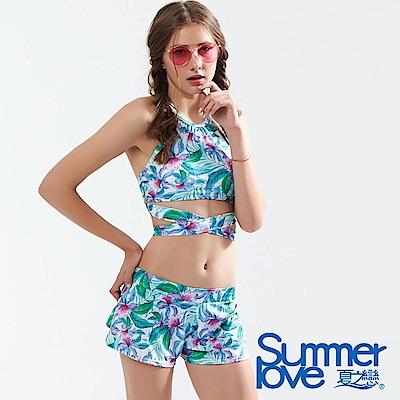 夏之戀SUMMERLOVE 大女短版三件式泳衣
