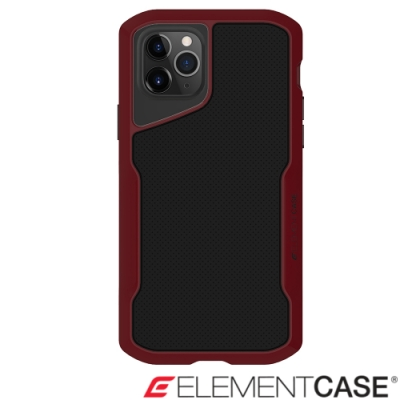 美國Element Case iPhone 11 Pro Shadow流線手感軍規殼-紅黑