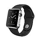 【福利品】Apple Watch Series 1 不鏽鋼錶殼搭黑色運動型錶帶-38mm