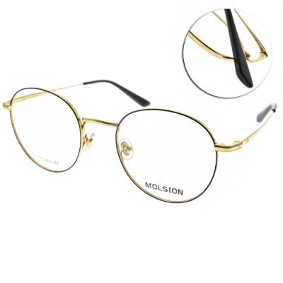 MOLSION 光學眼鏡 Angelababy代言 黑-金  # MJ1003 B12