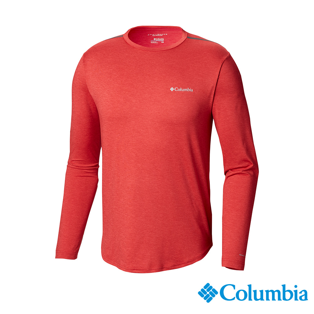 Columbia哥倫比亞 男款-防曬UPF50快排長袖上衣-紅色