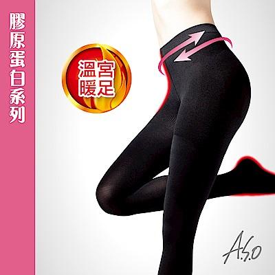 A.S.O 膠原蛋白150丹溫宮暖足褲襪-黑
