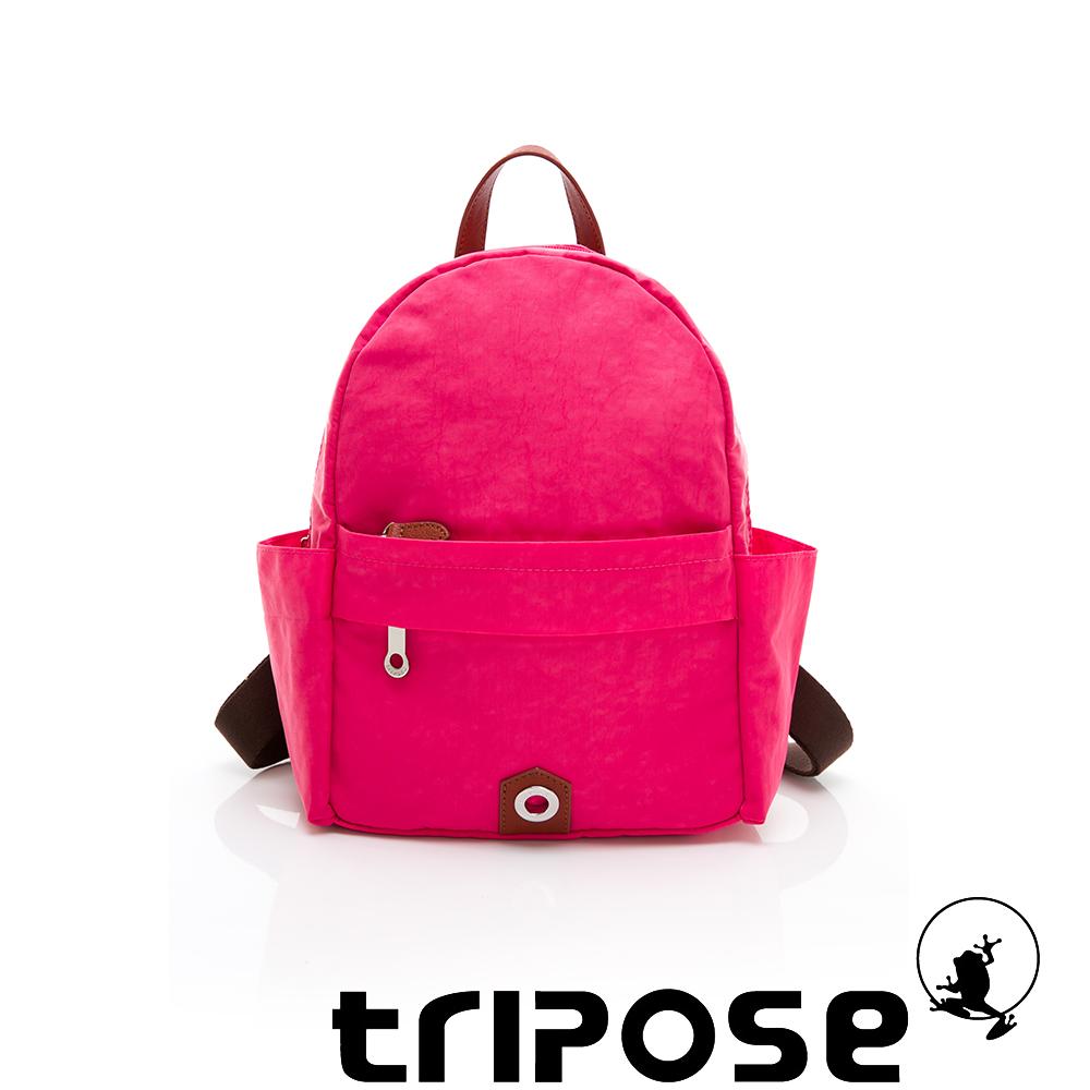 tripose MOVE系列側口收納機能後背包 桃紅