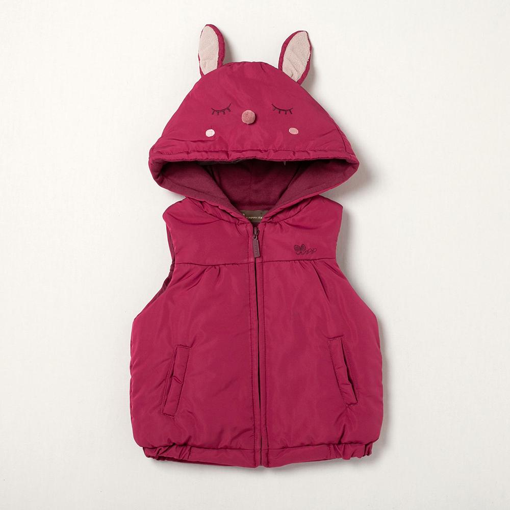 PIPPY 兔兔鋪棉背心 桃紅