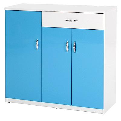 綠活居 阿爾斯環保3.5尺塑鋼單抽三門鞋櫃(二色可選)-105x37x112cm免組