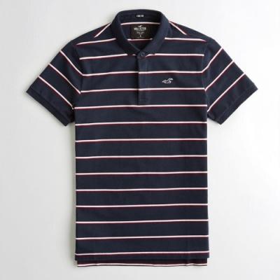 Hollister HCO 短袖 polo 藍色 1215