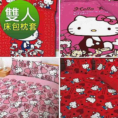 La Veda Kitty雙人三件式床包+枕套組 多款任選