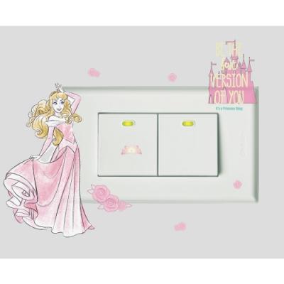 itaste小品味 BID073 迪士尼公主開關貼-奧羅拉