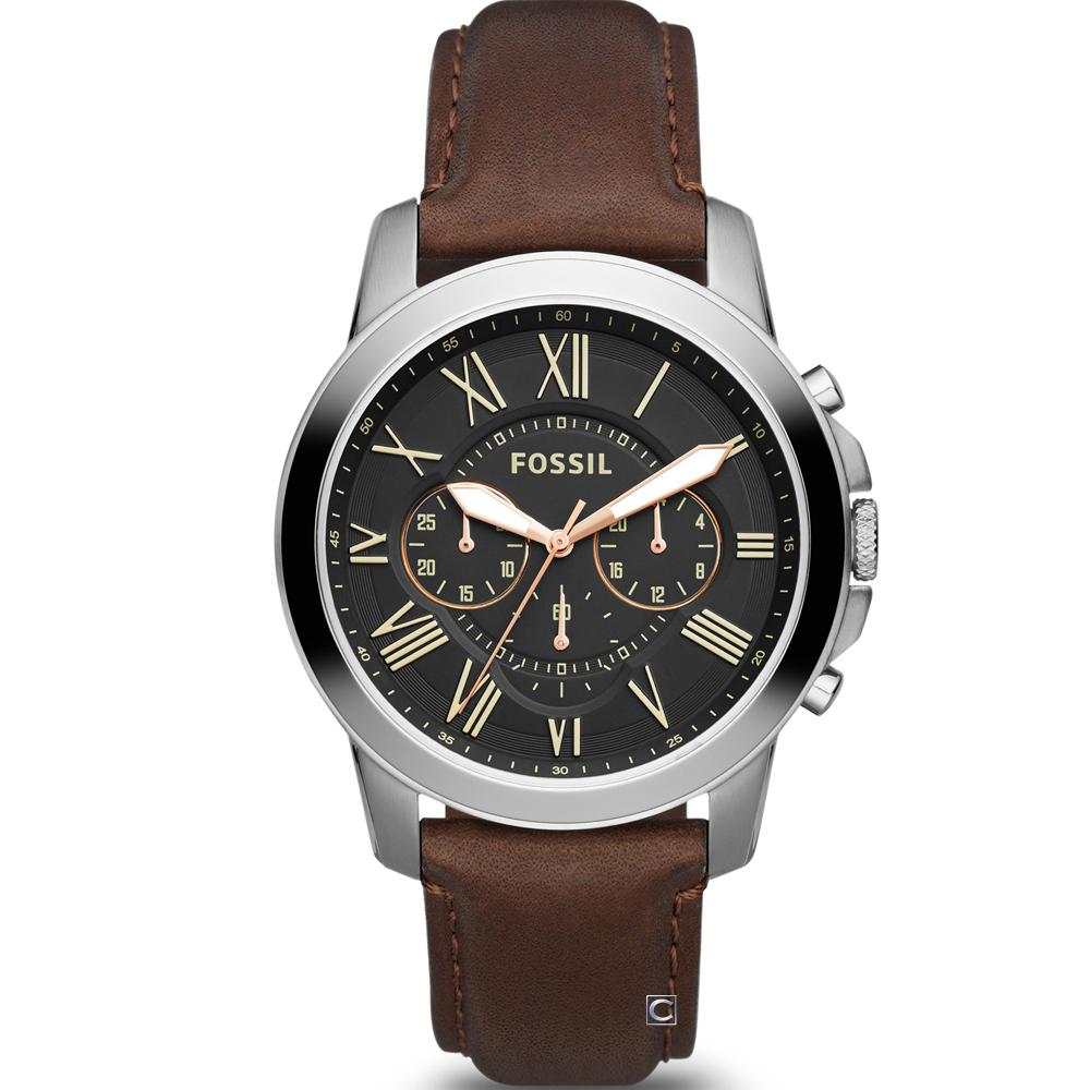 FOSSIL Grant 系列 羅馬時標計時腕錶(FS4813IE)44mm