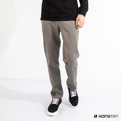 Hang Ten-男裝-STRAIGHT FIT直筒防皺褲-灰棕色