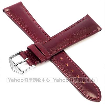 海奕施 HIRSCH Siena L 典雅柔軟小牛皮錶帶 防水可清洗-紫紅