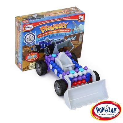 【美國Popular Playthings】竹節積木-工程車(26pcs) #90064