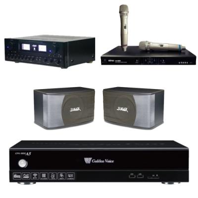 金嗓A5+SUGAR SAK-5888+SK-8610+MI-889(伴唱機 4TB+卡拉OK套組)