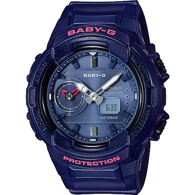 BABY-G 秋冬街頭時尚風格雙顯女錶-珠光藍(BGA-230S-2A)/42mm