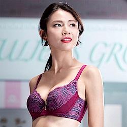 華歌爾-摩奇X挺魔力胸罩C90加大尺碼-DE罩杯內衣(紫)機能集中