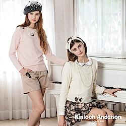 【Kinloch Anderson 金安德森女裝】圓領蕾絲下蝴蝶結上衣
