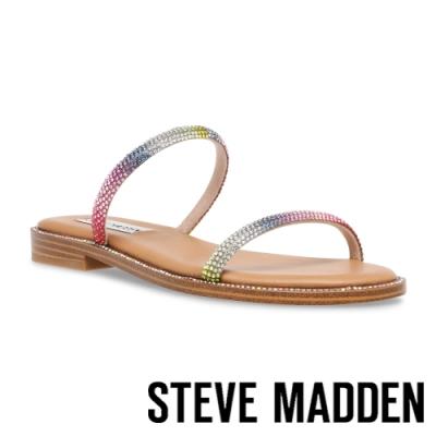 STEVE MADDEN-TRINKET 彩虹雙細帶平底涼拖鞋-彩虹