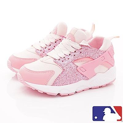 洋基MLB童鞋 短筒晶亮老爹鞋款 NI83064粉紅(中小童段)