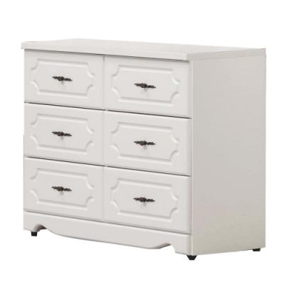 文創集 基特法式白3.3尺六斗櫃/收納櫃-100x40x78cm免組