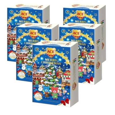 ACE 2019年聖誕節倒數月曆禮盒-根特小鎮聖誕市集 (24天倒數軟糖禮盒) 5入組