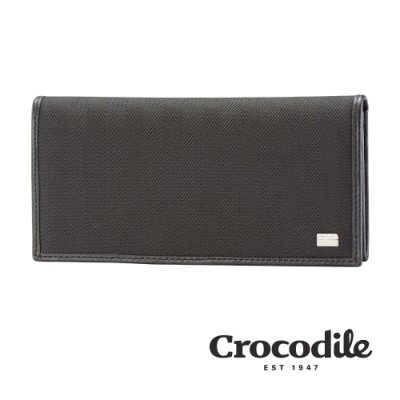 Crocodile Snapper布配皮系列長夾 0103-10001