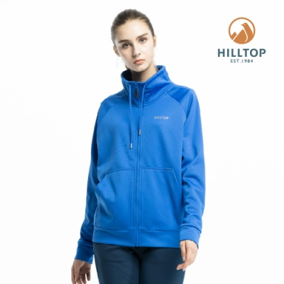 【hilltop山頂鳥】女款保暖立領刷毛外套H22FV8寶藍色