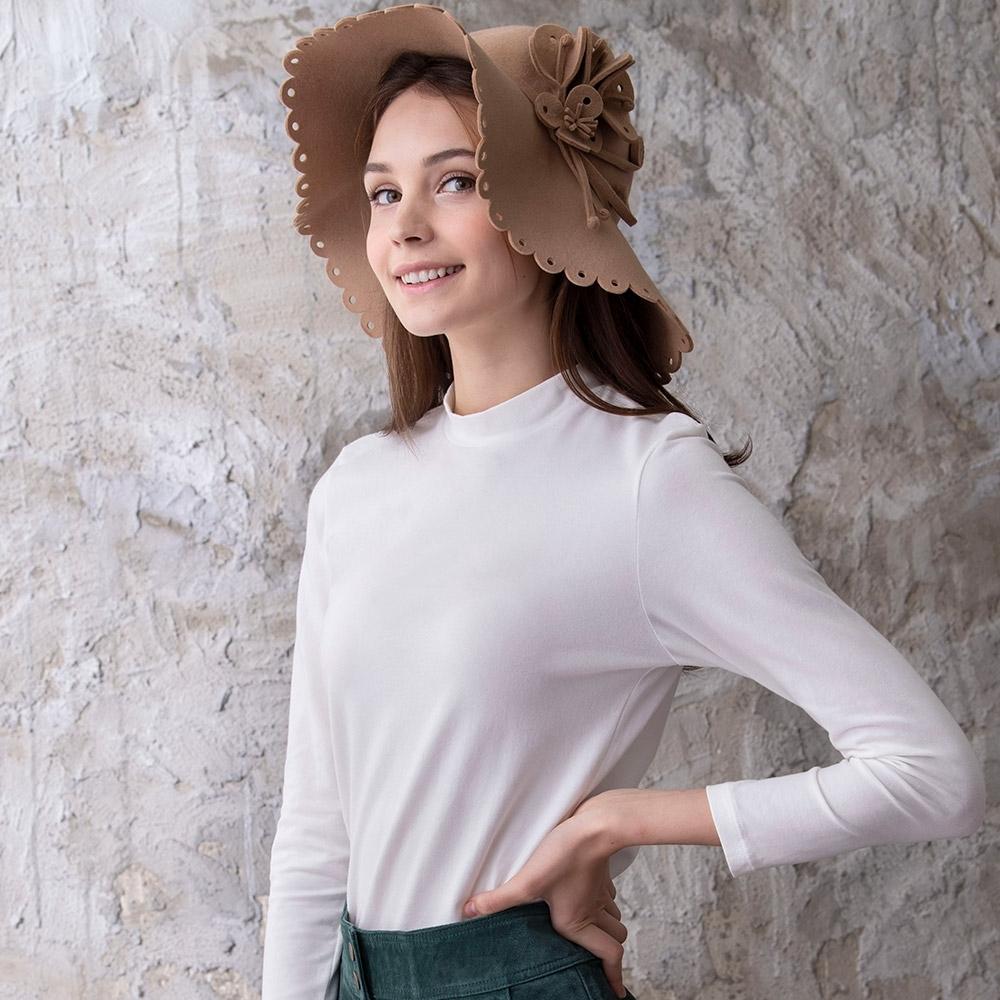 華歌爾-優膚美 M-LL 長袖立領內搭衣(白)保暖舒適