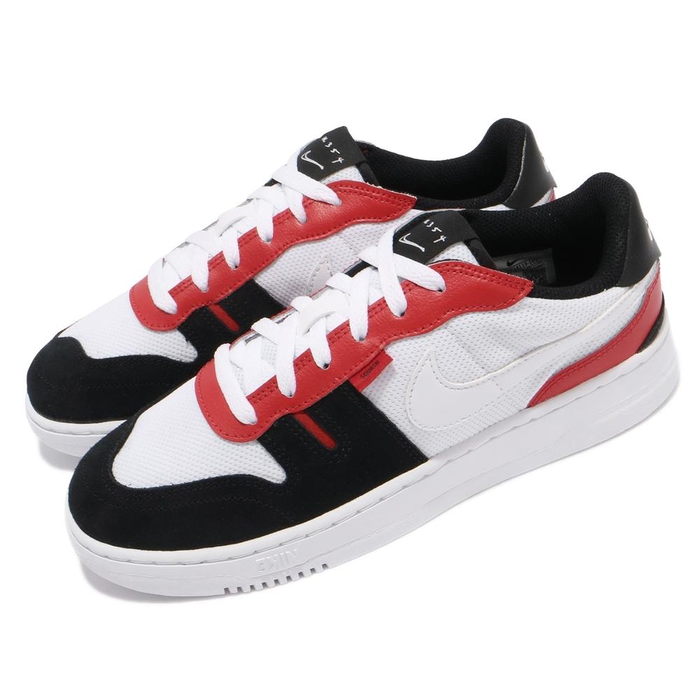 Nike 休閒鞋 Squash Type 運動 女鞋 基本款 舒適 簡約 球鞋 穿搭 白 紅 CJ4119101