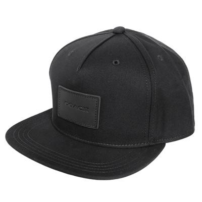 COACH黑色純棉皮標貼飾嘻哈潮帽