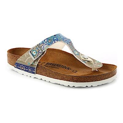 勃肯BIRKENSTOCK1009806吉薩夾腳拖鞋(馬賽克米褐調)