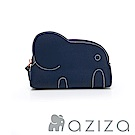 AZIZA 小象化妝包-藍