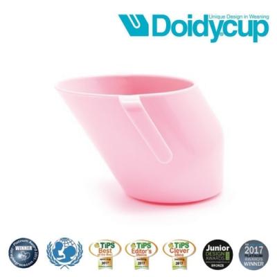 【英國Doidy cup】彩虹學習杯/訓練杯/刷牙杯-玫瑰粉(專利造型設計 喝水看的見)