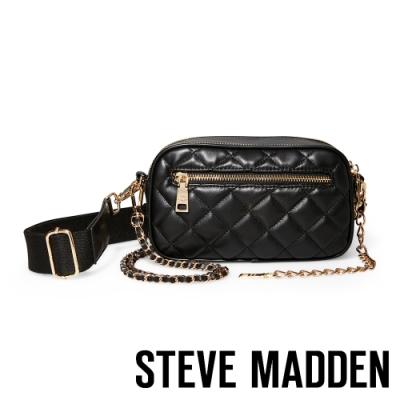 STEVE MADDEN-BMOOD 雙面側背斜背兩用包-黑色