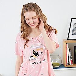 睡衣 法鬥小犬點點連身睡衣 兩色可選 台灣製造(R85008)蕾妮塔塔