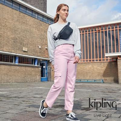 Kipling 寧靜深邃黑潮流簡約隨身腰包-FRESH LITE