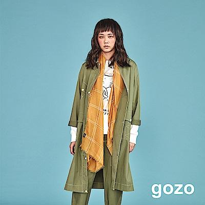 gozo 單排釦解構拼接風衣外套(二色)