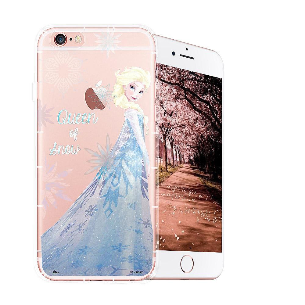 冰雪奇緣展場限定版 iPhone 6s/6 透明軟式空壓殼(艾莎)