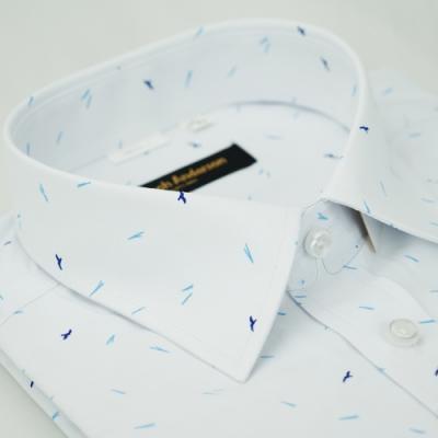 【金‧安德森】鍵鳥白色窄版長袖襯衫