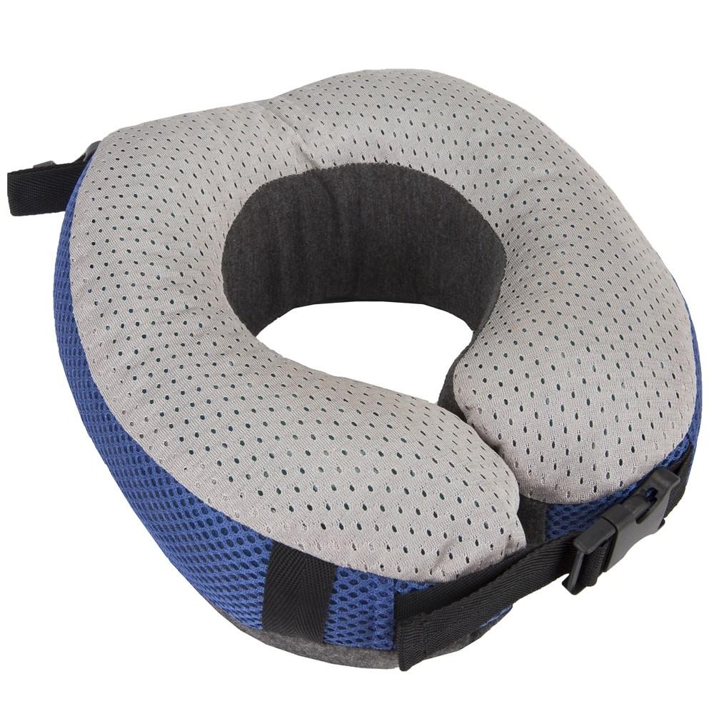 《TRAVELON》冷凝扣式雙色護頸枕(灰藍)
