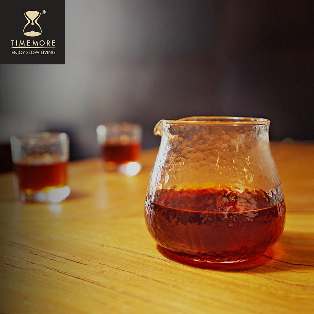 TIMEMORE泰摩 錘目紋玻璃咖啡分享壺套裝組-無柄