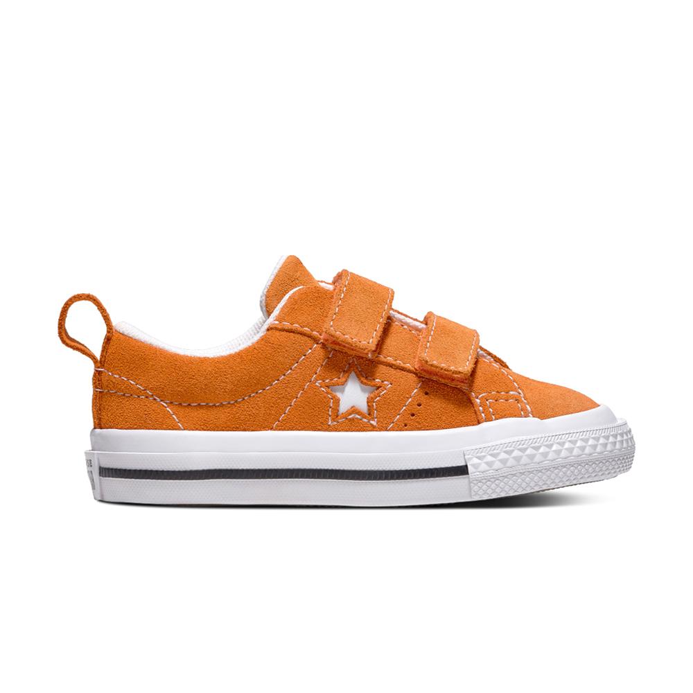 CONVERSE-ONE STAR 童鞋-橘