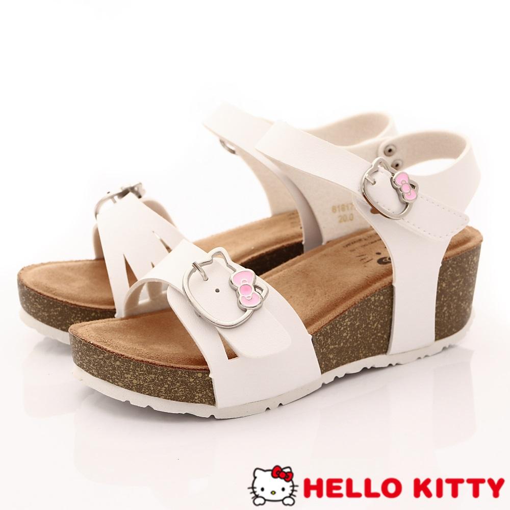 HelloKitty童鞋 厚底涼鞋款 EI18179白(中大童段)