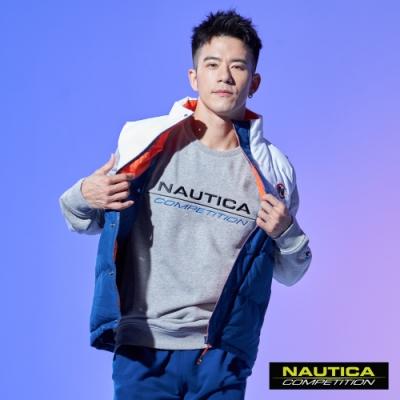 Nautica COMPETITION雙色拼接鋪棉背心-藍白色