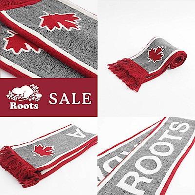 [時時樂限定]Roots配件- 加拿大系列長條圍巾 - 紅