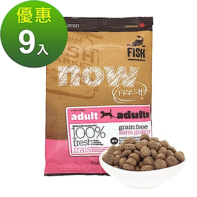 Now! 鮮魚無穀天然糧 成犬配方 100克 九件組