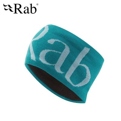【英國RAB】Knitted logo Headband 經典LOGO針織頭帶 水洋藍 #QAA71