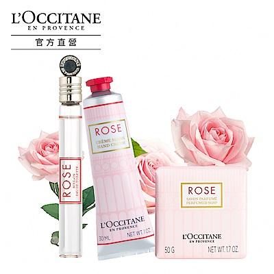 L'OCCITANE歐舒丹 玫瑰香氛組