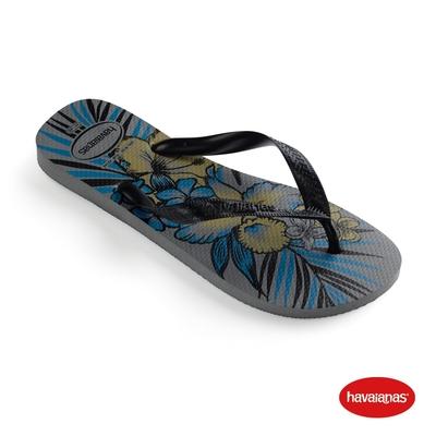 Havaianas哈瓦仕 拖鞋 夾腳拖 人字拖 夏威夷主題 巴西 男鞋 女鞋 鐵灰 4111355-5178U Aloha